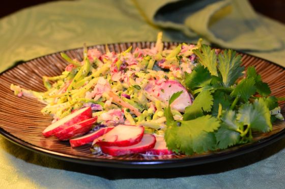 Broccoli Slaw with Cilantro Lime Dressing