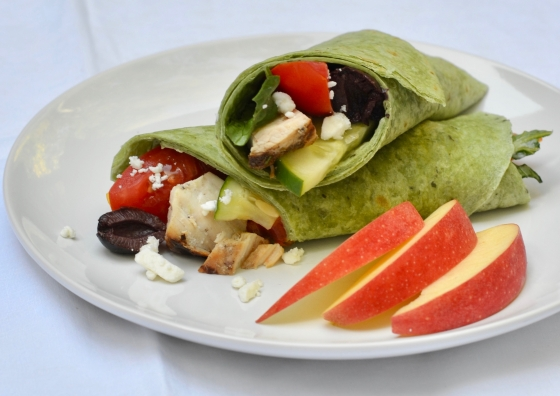 Greek Grilled Chicken Wraps