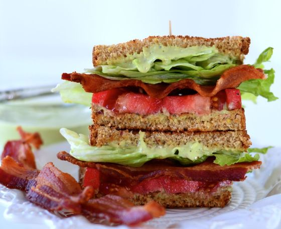 BLT w: avocado mayonnaise