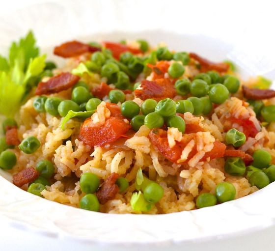 Green Pea and Tomato Pilau | Mary Duke Cooks!