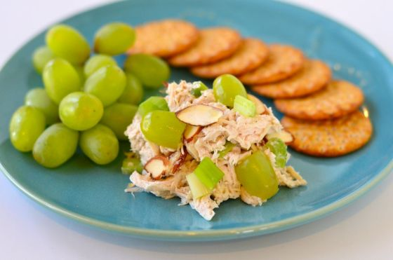 Chicken Salad with Almonds and Grapes