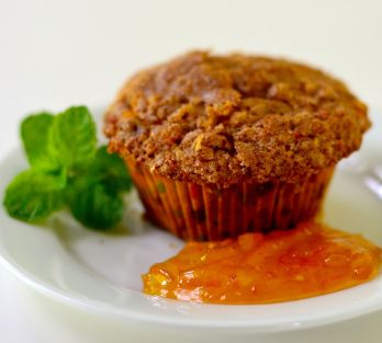 Sunshine Orange Marmalade muffins
