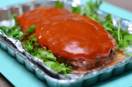 Grilled Meatloaf with Tangy Ketchup Mustard Sauce