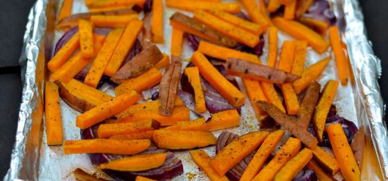 Sugar and Spice Roasted Sweet Potatoes