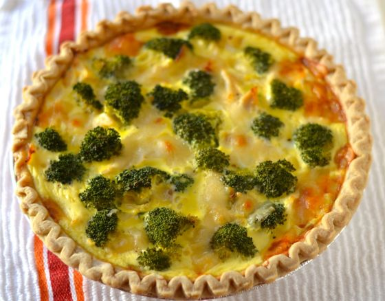 Chicken Broccoli Quiche