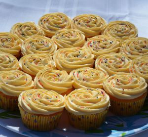 Orange Push-ups Cupcakes w: ORange Buttercream Icing