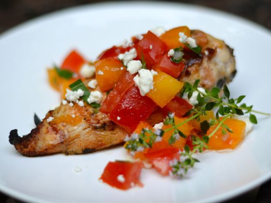 Greek chicken with fresh tomato salsa