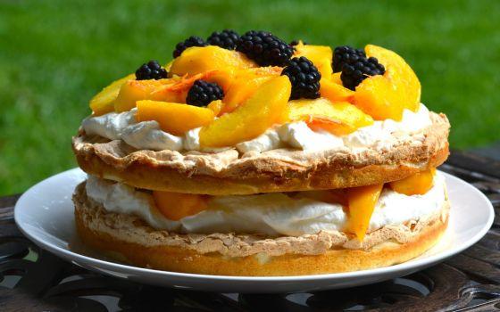 Peach Meringue Torte