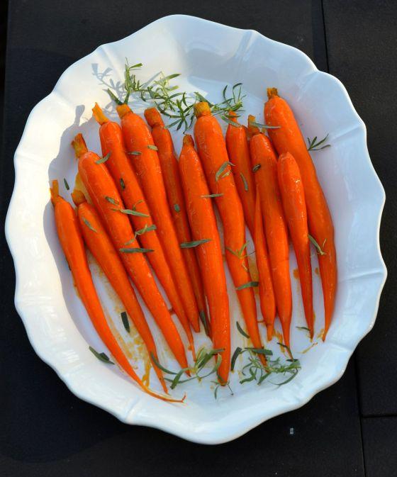 Carrots in Carrot Juice Glaze