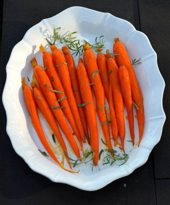 Carrots in Carrot Juice Glaze