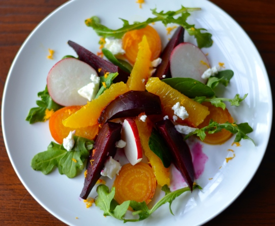 roasted beet and org sld w org vinaigrette