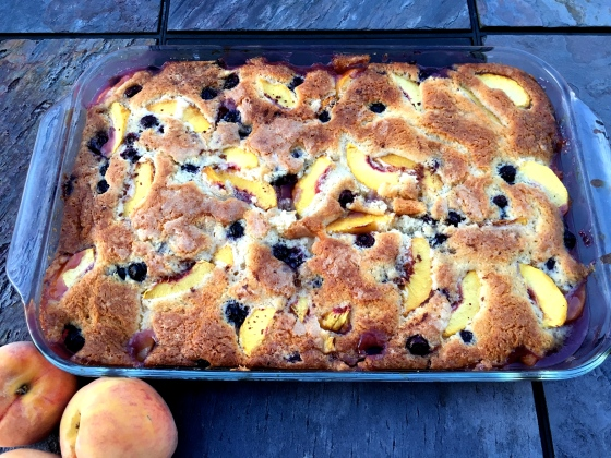 #2 peach blueberry cobbler