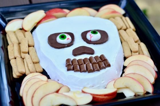 #2 Halloween peanut butter smores skeleton