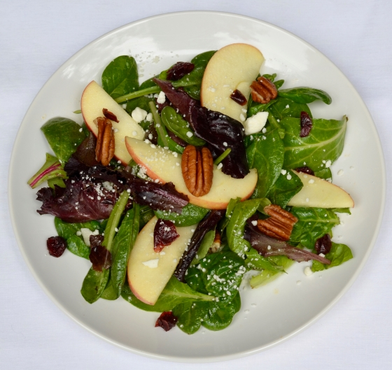 salad with apples and apple cider vinaigrette